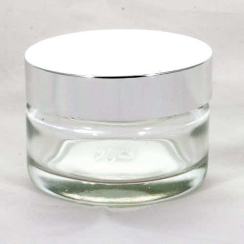 Cosmetic Jar with Silver Lid