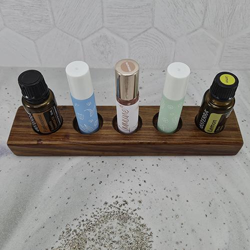 Oil Stand - 5 bottle - Kiaat1