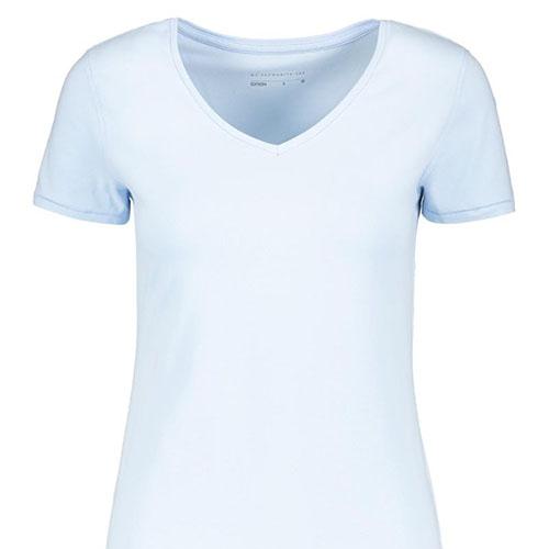 V-neck-Stretch-Cotton-T-shirt-LIGHT-BLUE