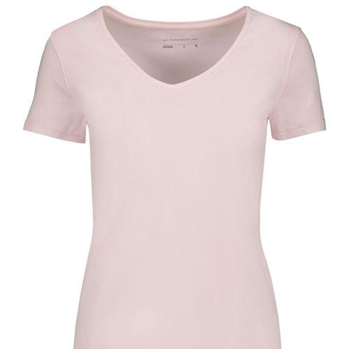 V-neck-Stretch-Cotton-T-shirt-LIGHT-PINK