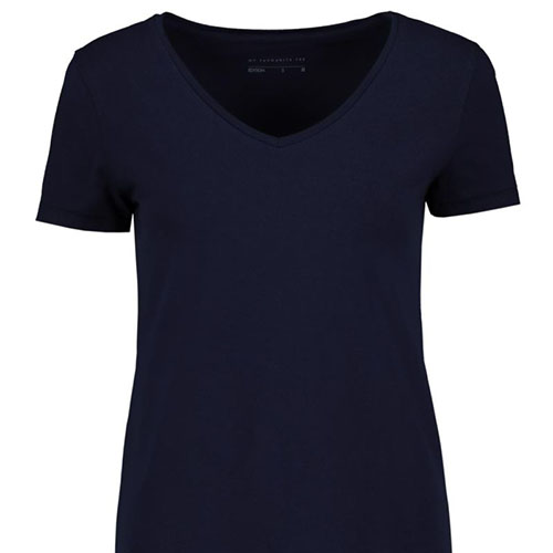 V-neck-Stretch-Cotton-T-shirt-NAVY