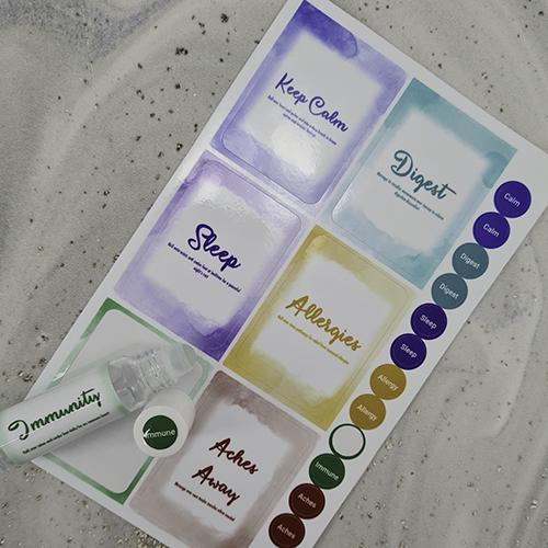 Watercolour Stickers