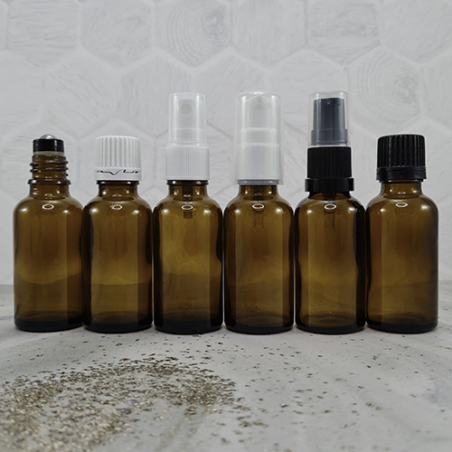 30ml Amber Dropper Bottles with Closures