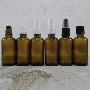 50ml Amber Dropper Bottles with Closures