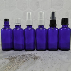 Blue Dropper Bottles with Closures